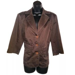 Lane Bryant Size 16 Blazer Jacket Chocolate Brown